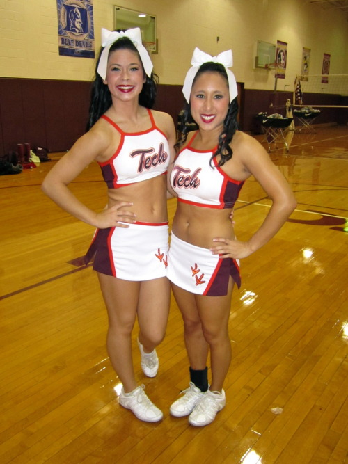 ohheyyitscourtneyy:  me and emily, <3  go hokies!  Hokie cheerleaders on Tumblr? Any other Virginia Tech athletes on Tumblr? If so, let us know so we can spread the word! If David Wilson, Logan Thomas or Blake DeChristopher has a Tumblr … you don't even know!