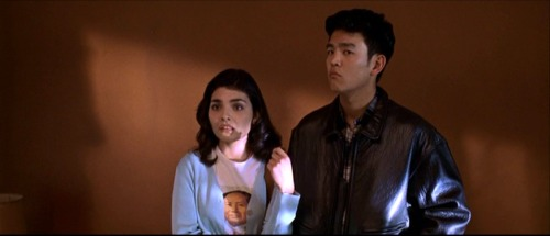 John Cho from Harold and Kumar and Star Trek XI rocked a tough leather jacket when he appeared as a prospective home buyer in Sam Mendes' American Beauty.  Great submission, candyisdandy-liquorisquicker! Follow us on Twitter @ISpyAFamousFace!