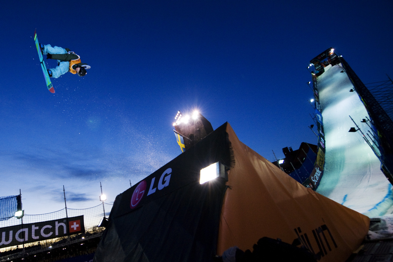 Big airNorway's Roger Kleivdal during the Snowboard Big Air FIS World Cup 2012 competition in Stockholm Stadium on November 19, 2011. Photo: Jonathan Nackstrand/AFP/Getty Images