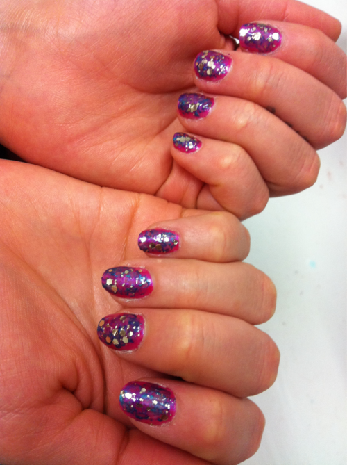 Bobbies nails I did this evening :))