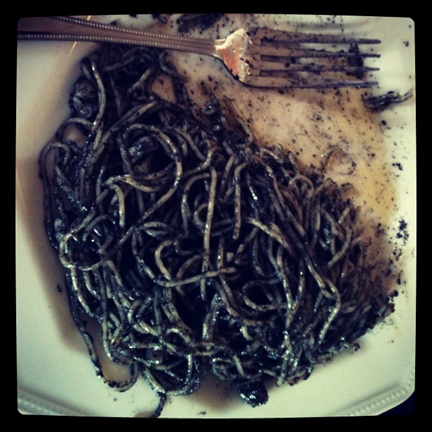 #Squid Ink Pasta (Taken with instagram)