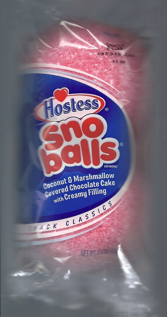 Whilst at shop rite I purchased some sno balls. NOM.