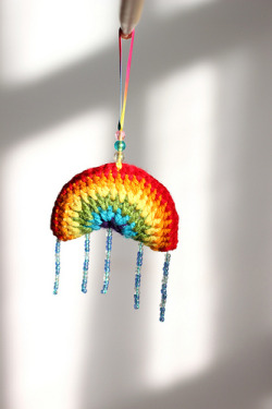 Crochet Rainbow Ornament by Lost In Stash