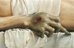 proustitute:  Hans Holbein the Younger, The Body of the Dead Christ in the Tomb (detail), c. 1520-22  grosss