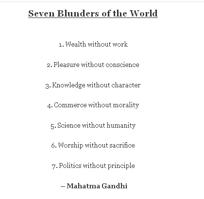 7 Blunders of the World