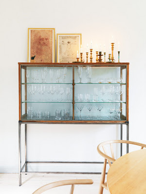 a nice simple way to store/display glassware in the diningroom that won't get dusty. (via My Scandinavian Retreat)