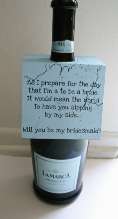 Another adorable way to ask your friends to be bridesmaids