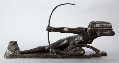 Penthesilia, Queen of the Amazons (patinated bronze) – Marcel-André Bouraine (French, 1886–1948)