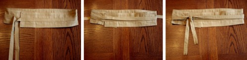 DIY Kimono-Style Belt This is kind of a difficult project for my taste, but if I could swing it, this would be soo cool to compliment any dress!