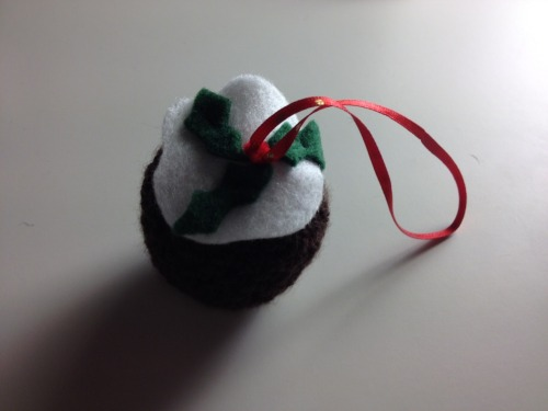 The christmas pudding : my first christmas tree decoration.