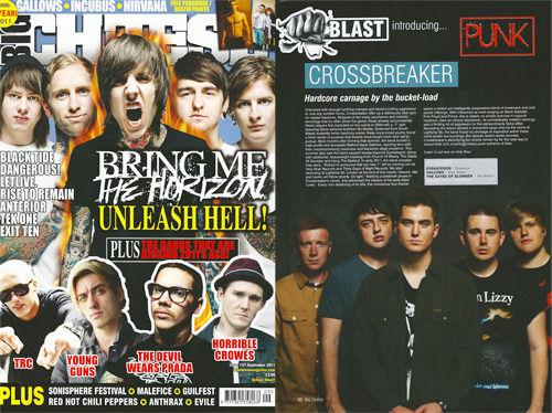 Crossbreaker - Big Cheese Magazine - September 2011 FInally got round to some scanning. Terrible shot but sweet band. Go listen - www.facebook.com/crossbreakerhc