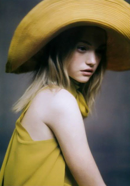 thegeniusoffashion:  theygivegoodhead:  Gemma Ward by Paolo Roversi  Hats for Fall