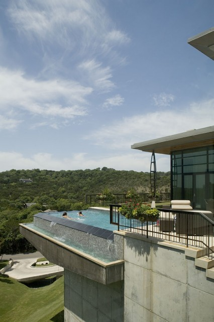 An elevated pool with amazing views (via 402 Redbud - modern - exterior - austin - by Cottam Hargrave)
