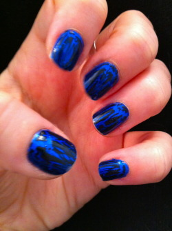 China Glaze, FrostbiteOPI, Black Shatter