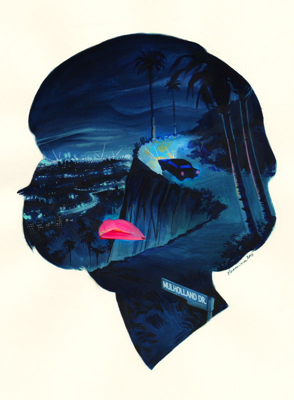 savepictureas:  Mulholland Drive- Illustration by Veronica Fish