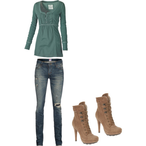 Untitled #292 by ana-bieber featuring high heel bootsFat Face tunic, £20PRPS destroyed skinny jeans, €539Call it SPRING high heel boots, $70
