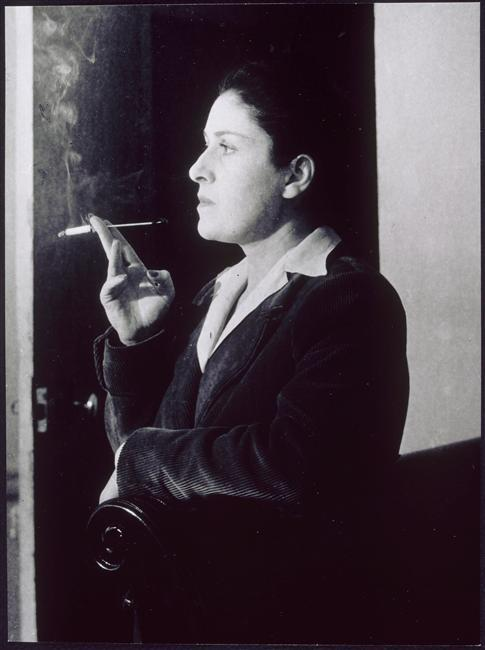 Dora Maar avec un fume-cigarette, dans son salon, rue de Savoie, Paris, 1944 by Brassaï *** [few years later, similar shot by Isis here] from RMN
