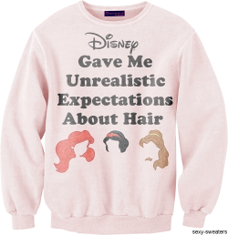 wickedclothes:   Disney Princess Hair Sweatshirt