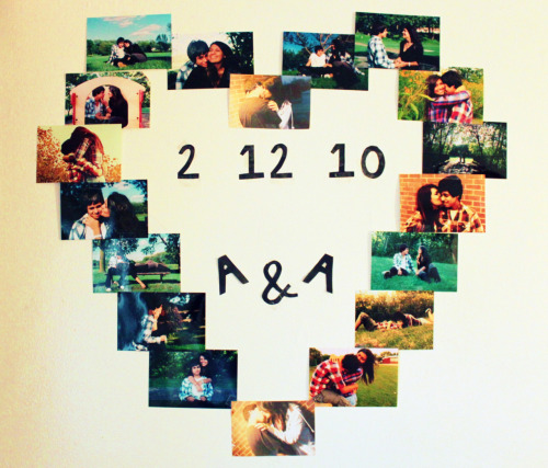 "submitted by vivalaamp ""made this on my wall… my cutie boyfriend and i :)"""