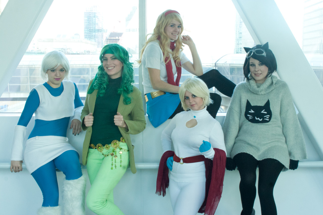 People have already cosplayed Hanie Mohd's DC Ladies in Sweaters. I approve. wonderwomanv2:  thefingerfuckingfemalefury:  intergalacticstarfish:  thefingerfuckingfemalefury:  thehappysorceress:  haniemohd:  pixistyx:  A few shots from our DC Girls in Sweaters shoot as designed by http://haniemohd.tumblr.com Gina G. as Power Girl Olivia as IceGillykins as Fire and Jenn and Christine of the Dangerous Ladies as Supergirl and Catwoman.  I cannot express how awesome this is!!! 8D 8D 8D I love how Powergirl sweater turns out (exactly how I imagined it'd look like IRL), and the improvisation on Supergirl's sweater piece (so cute!) Fire and Ice looks totally great (love the details on Fire's belt - and those GREEN BOOTS! and the Ice's fluffy legwarmers) and Catwoman is ADORABLE x100. Keep 'em coming people! These makes me so happy :3  Adorableness abounds! Proof that everyone needs a Haniemohd sweater.  That Catwoman kitty sweater is something I need to own :D I approve of Catwoman's fashion choice. 'Cause it must get cold in Gotham during the winter  Cute! I need that Power Girl sweater, like, NEED it!  It's super-adorable! <3  You know, with C2E2 being in April in Chicago, it'll probably be just the right temperature for some sweaters….and I know @ComixBookGurl would look FIERCE rocking that Catwoman sweater….