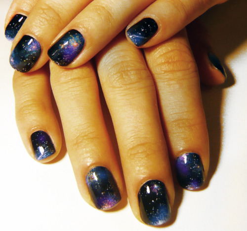 Galaxy nails special requested by Felicia.