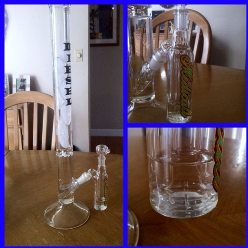 My new buddy ^_^  #420 #kush #popular #pipe #bong #sohigh #high #life #new #getonmylevel #fuckwithit #sick #sosick #epic #nuts #ultra #newnew #sohighrightnow #blazed #glass (Taken with instagram)