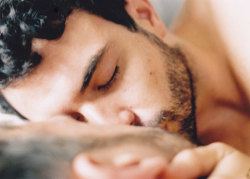 "ifonlytony:  ""Weekend"" - The next morning he wakes up with him, he is more  outspoken and outgoing, full of jokes, opinions and ideas that both  unsettle and intrigue his new acquaintance."
