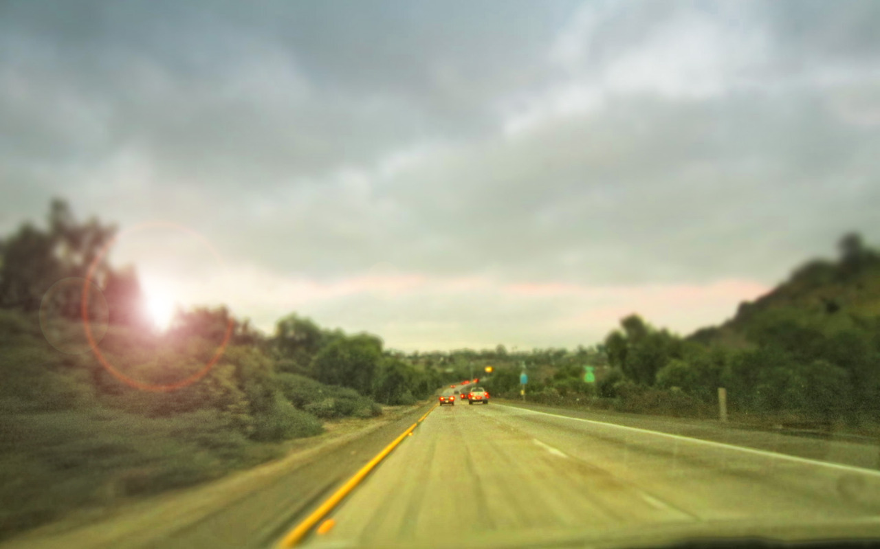 11.20.11 : photo.a.day - Sun breaking through between clouds on Freeway 52, San Diego.softservegirl.com / archives / about