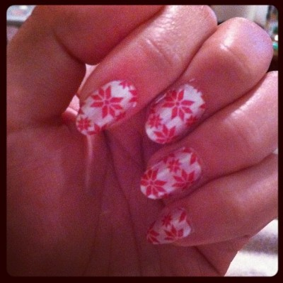 fancy, festive fingers while watching dexter.