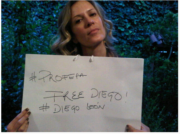 Rebeca de Alba dice #FreeDiego @rebecadealba