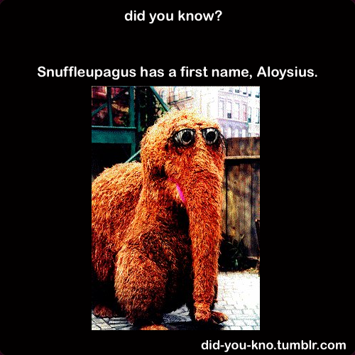did-you-kno:  Source  I still prefer Snuffles. :P