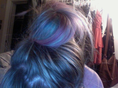 my cotton candy hair and I are going to bed. long skypes with Martin, seen as he leaves in 5 days :(