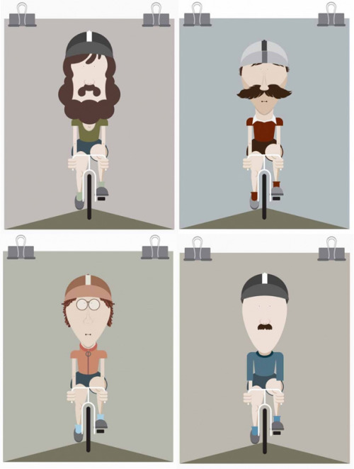 Illustration, vintage riders. Like it!
