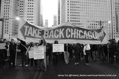 mespetitesfleurs:  Photo by James Cox Occupy Chicago Nov 17th, 2011