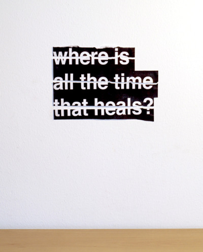 "visual-poetry:  ""where is all the time that heals?"" by anatol knotek"