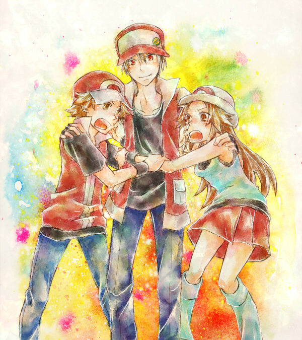 fuckyeahpokemontrainerred:  RemakeShipping makes a good OT3 when you throw in Leaf, too.