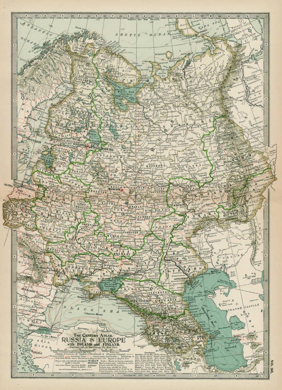 The Century Co., 1897, Russia in Europe with Poland & Finland