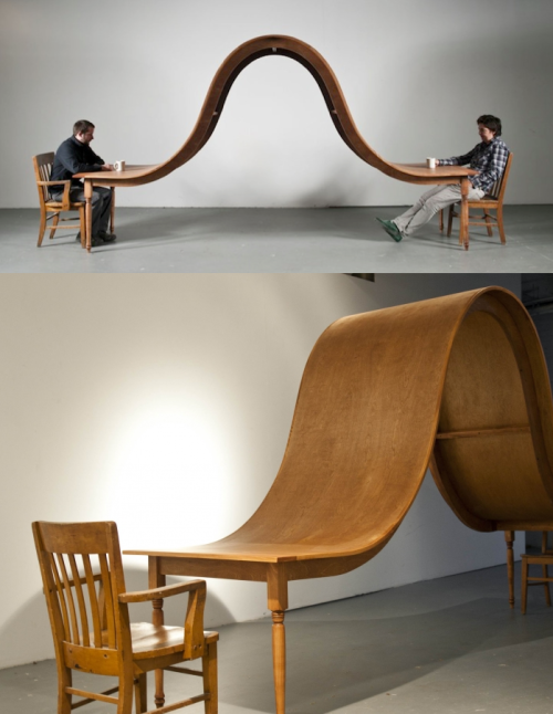 Avoid conversation dining table by Michael Beitz