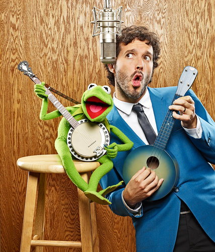 Kermit and Bret McKenzie jam. Via (New York Times)