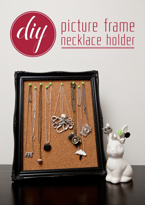 (via DIY: Picture frame necklace holder | Danelle Bourgeois)