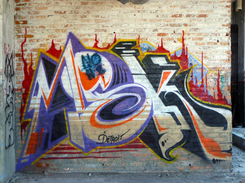 MSK. Detroit 2011 on Flickr.MSK in #Detroit. #Graffiti #Graff #Streetart