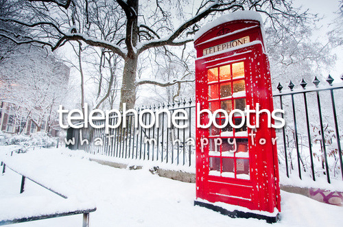 whatimhappyfor:  What I'm happy for » Telephone booths