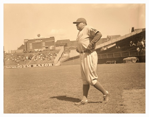 Babe Ruth As A Brooklyn Dodger 1938 Babe adjusts his pants while heading out to coach 1B for the Brooklyn Dodgers at Braves Field, Boston. Not sure of the exact date for this pic, but since he didn't sign up with Brooklyn until mid-June, that leaves August 12-14 and September 5th.