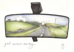 the road from Sparrowpit by andrea joseph's illustrations on Flickr.