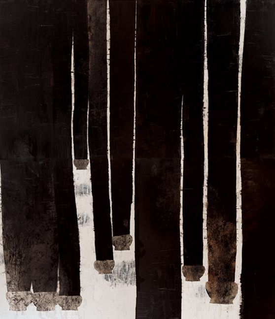 Wang Huaiqing, 5000 Years, 2003, oil on canvas, 11'6''x9'10''. Courtesy Wang Huaiqing here