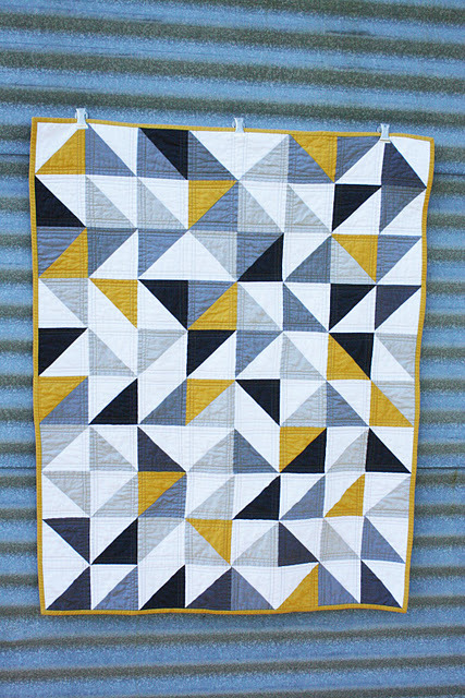 I want to make a quilt like this one day……  moderndayquilts:  A Quilt for Harry by Erica, an original design featured on her blog.