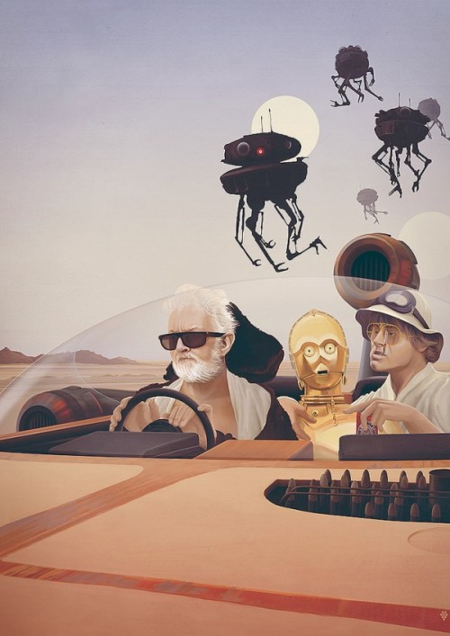 "iheartchaos:  ""Fear and Loathing on Tatooine"" by Anton Marrast Via"