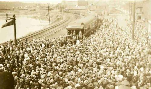Herbert Hoover on a whistle stop campaign train -  In 1932, President Hoover ran for re-election against Franklin D. Roosevelt.  The Depression had reached its lowest point with 12 million people unemployed and 18 million on relief. Four years earlier in 1928, Herbert Hoover had won the presidency in an overwhelming  landslide.  Usually cast as a President defined by his failure to contain the Great Depression, Hoover's story is far more complex and more interesting.  Hoover was an activist reformer, albeit one without the political skills needed to sell himself and his programs to Congress and the public. A shy man, he insisted on keeping much of his life and good deeds out of the public eye. Only in politics is this a character flaw, yet it prevented those around Hoover from portraying him as a compassionate leader, or warding off portrayals of him as a cold, uncaring figure responsible for nearly everything that was going wrong in the American economy. As a result, Hoover's presidency remains largely an untold story.  Read more.