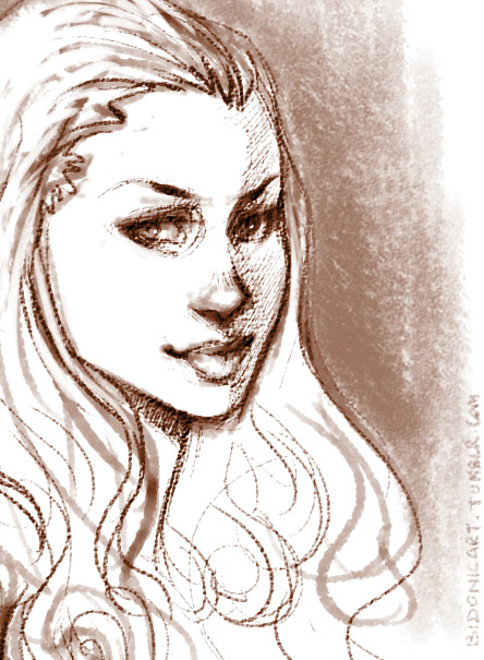 That awkward moment when you doodle a Melisandre to test your new SAI brushes and you realize that she looks more like the show's Margaery, just like show!Cersei looks more like your Catelyn c'est la vie