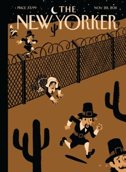 Magazine Cover: Illegal Immigrants. The New Yorker. Christoph Niemann. 2011